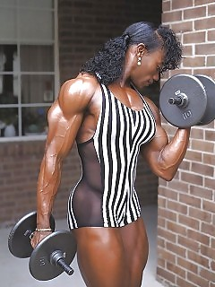 Muscle Black Women Ebony Tree