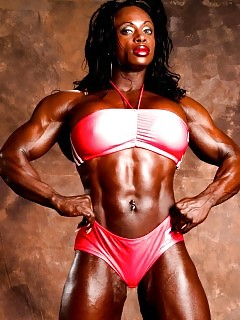 Muscle Black Women Boxing Ebony